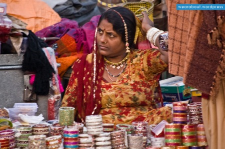 street woman selling bangles