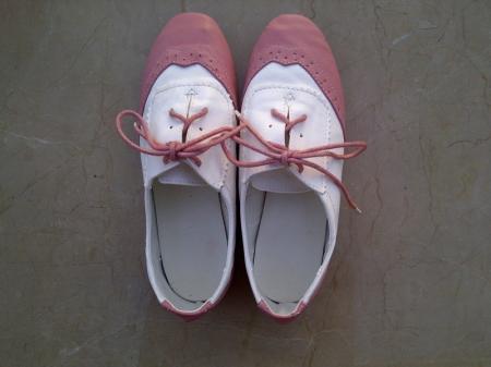 pink brogues