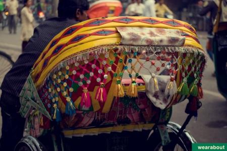 indian street rickshaw