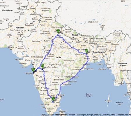 india map travel