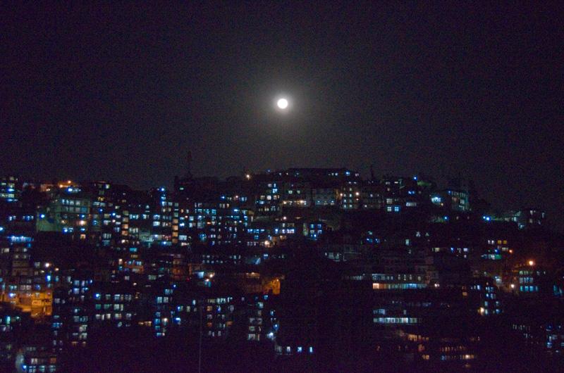 aizawl city full moon india