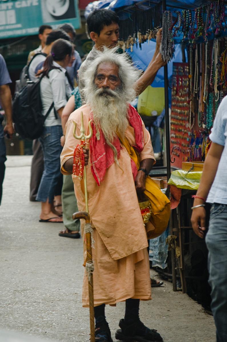 indian sadhu street