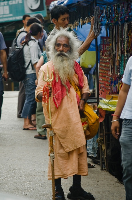 indian sadhu street