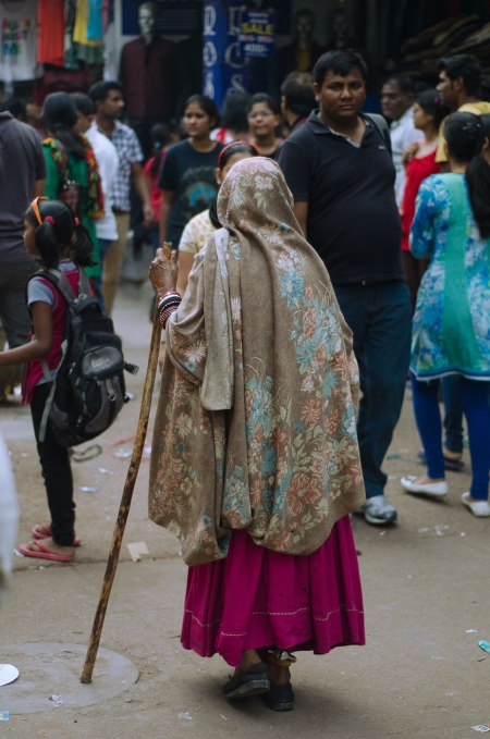 old woman street fashion india