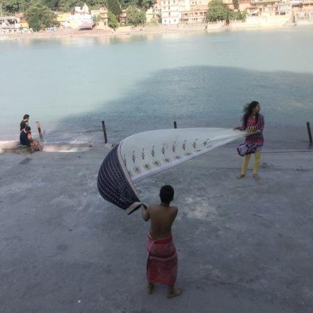 sari drying india