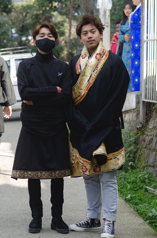 tibetans on losar in dharamshala india