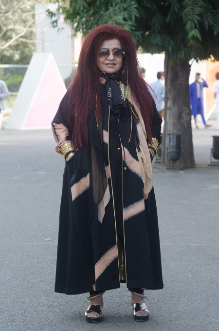 shehnaz hussain street style delhi fashion week