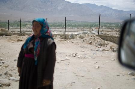 ladakhi woman on street